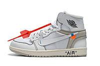 Женские кроссовки Off-White x Air Jordan 1 Retro Реплика