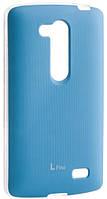 Чехол VOIA (original) на LG L Fino D295 - Jell Skin Blue