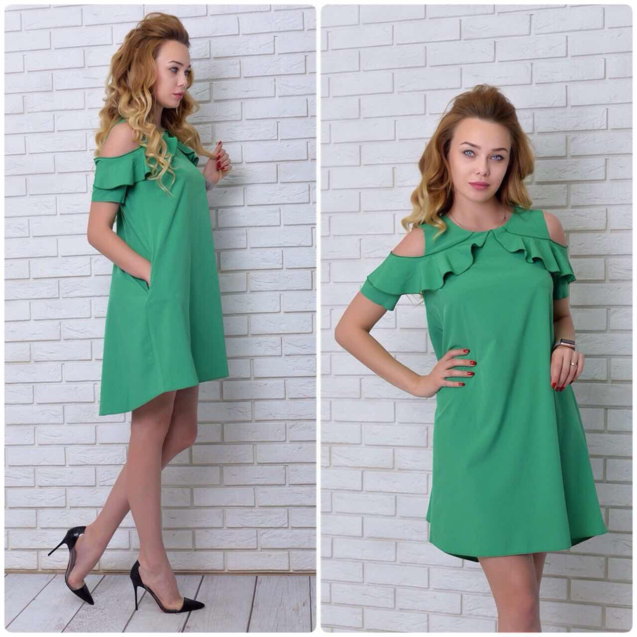 Платье, модель 785, цвет - зеленый