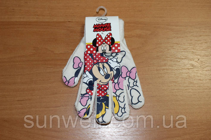 Рукавички для дівчаток Мінні маус, 16см, фото 2