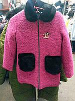 Пальто для девочки с воротником