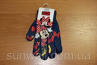 Перчатки для девочек Минни маус, 16см