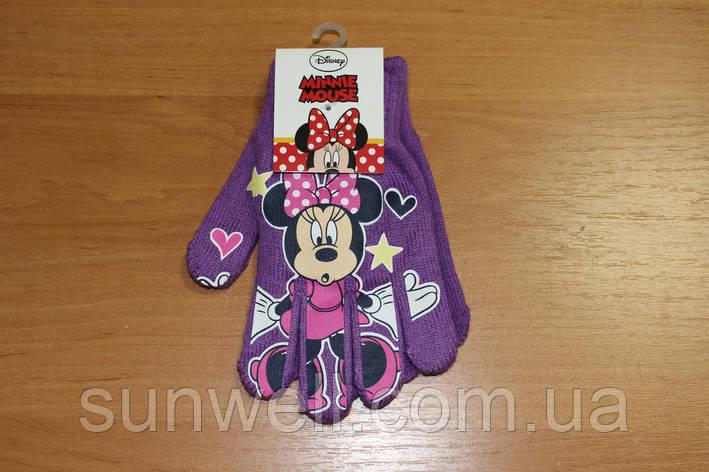 Перчатки для девочек Минни маус, 16см, фото 2