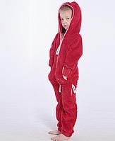 Комбинезон плюшевый детский red, в наличии и под заказ