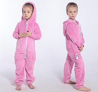 Комбинезон плюшевый детский pink, в наличии и под заказ
