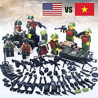 Военные фигурки,Набор Война во Вьетнаме военный конструктор, аналог лего, BrickArms