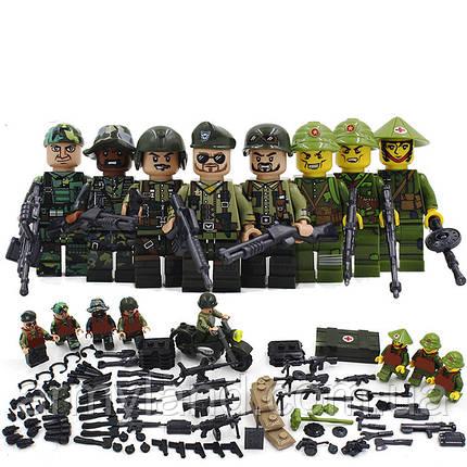 Военные фигурки,Набор Война во Вьетнаме военный конструктор, аналог лего, BrickArms, фото 2