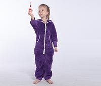 Комбинезон плюшевый детский purple, в наличии и под заказ