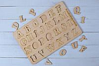 """Пазл-планшет из дерева """"Английский язык"""", детская азбука."""