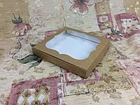 Коробка для Конфет Крафт с окном   150*150*30