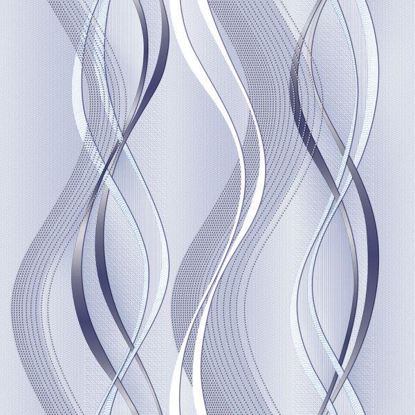 Обои бумажные Континент Риана голубая 1116