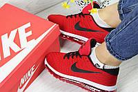 Женские кроссовки Nike Flyknit Air Max красные / кроссовки женские найк
