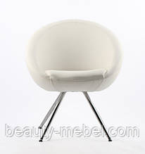 Кресло парикмахера, 4 H Mechelle, белое