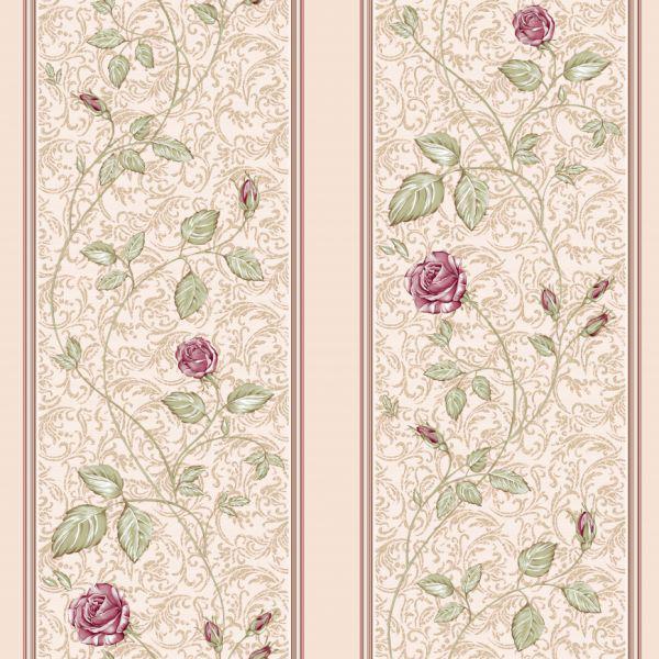Светло-розовые обои для стен с растительным рисунком Aura Paradise ... | 600x600
