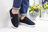 Женские кеды Converse All Star синие новые модные под джинсы, ТОП-реплика, фото 1