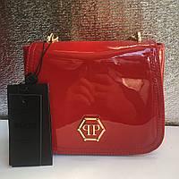 Маленькая лаковая сумка Philipp Plein