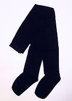 Детские хлопковые колготки для школьниц темно-синего цвета, фото 1