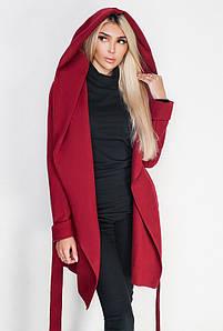 Весенние пальто больших размеров -ЛАГЕРТА- бордовый