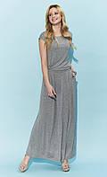 Летнее платье макси Valery Zaps серого цвета, фото 1