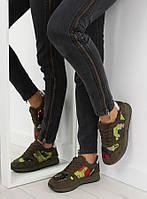 03-15 Коричневые спортивные женские кроссовки LH10P 39,40,41,36,37,38