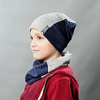Комплект шапка и хомут весна для мальчика Филипп