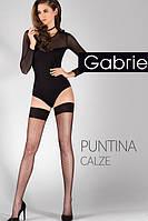 Чулки Gabriella Puntina 20 den с самоудеживающимся кружевом (9 см)