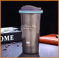 Термокружка № 210 COFFEE CO Love Dream Free 500 ML, термос с ручкой