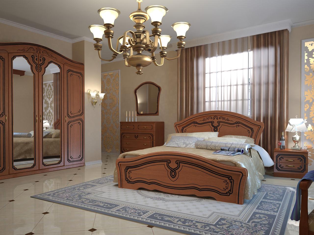 Кровать Альба 1,8 орех