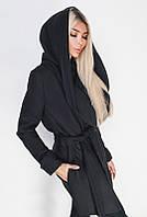 Черное стильное пальто  -ЛАГЕРТА-