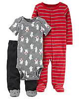 Комплект одежды из 3-х единиц для мальчика Carters северный мишка