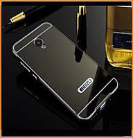 Металлический бампер Epik с акриловой вставкой с зеркальным покрытием для Meizu M3s / M3 mini Black