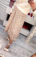 Женская красивая юбка декорирована рисунком (2 цвета) , фото 1