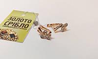 Серьги золотые с бриллиантами, 2.89 грамм, продажа по Украине.