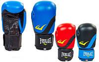 Перчатки боксерские на липучке Elast 3631: 8-12 унций, кожа