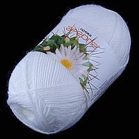 Пряжа Ареола акрил №12,белый