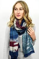 Легкий шарф в синей гамме цветов