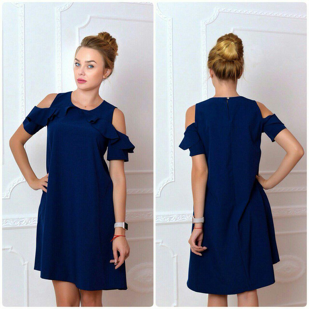 Платье, модель 785, цвет - темно синий
