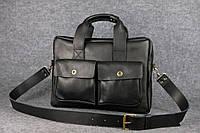 Мужской деловой портфель Ralf под ноутбук | Черный Краст