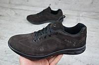 Ecco мужские замшевые кроссовки коричневые