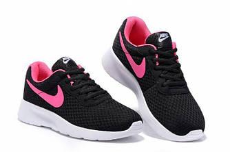 Кроссовки Nike Tanjun Black Pink Черные женские