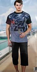 Мужские турецкие пижамы футболка и капри