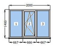 Окно 2000 х 1400