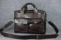 Кожаный портфель Ralf под ноутбук   Италия Кофе , фото 1