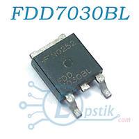 FDD7030BL, Mosfet транзистор N канал, 30В 56А, TO252