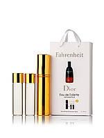 Набор духов Christian Dior Fahrenheit 3 х 15 мл в подарочной упаковке копия