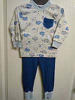 Трикотажная пижама Слоники мальчик  интерлок