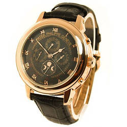 Мужские часы Patek Philippe Sky Moon Tourbillon Gold, механические, элитные часы Патек Филипп скай мун, реплика, отличное качество!