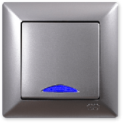 Gunsan Visage Серебро Выключатель с подсветкой
