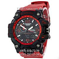 Электронные часы Casio G-Shock GWG 1000 Black/Red, спортивные часы Джи Шок(черно-красные), реплика, отличное качество!