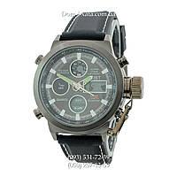 Армейские часы AMST 3003 Black, кварцевые, противоударные, армейские часы АМСТ черные